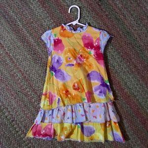 Clayeux floral layered dress 102cm/4T